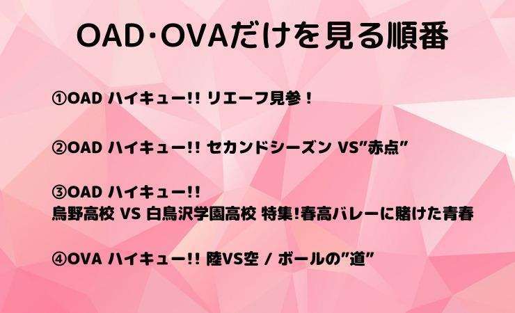 OAD・OVAを見る順番・タイミング