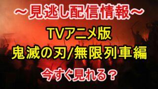 【見逃した方へ】鬼滅の刃のTVアニメ版「無限列車編」を今すぐ無料視聴する方法!